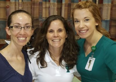 Dr. Mary Mulcahey, Megan Gordon, RN, and Athletic Trainer Ashley Wilson