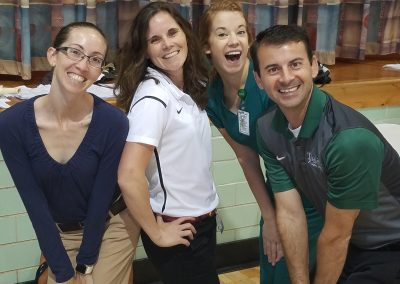 The Tulane Women's Sports Medicine Team at the Mount Carmel Academy pre-participation physicals.